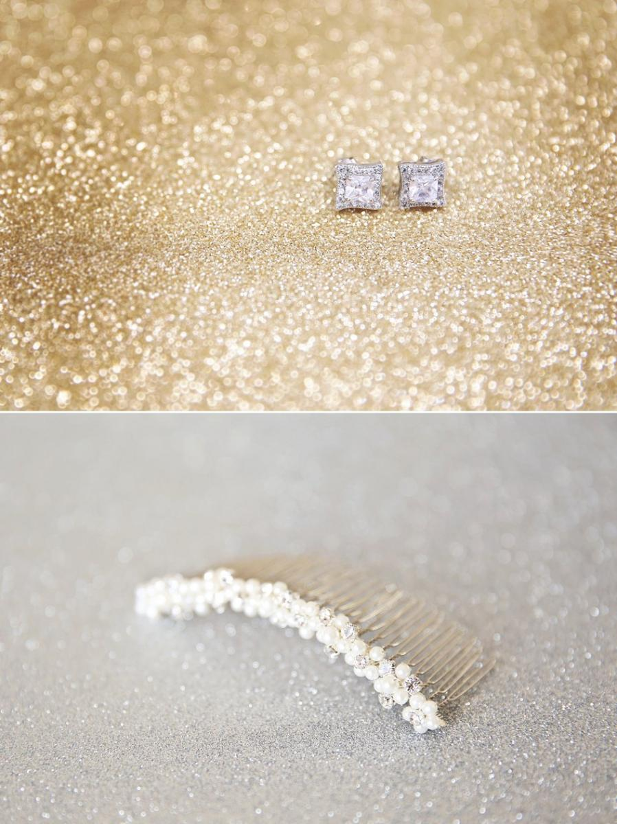 Ashlee Michael Glittery January Wedding Wisconsin Bride