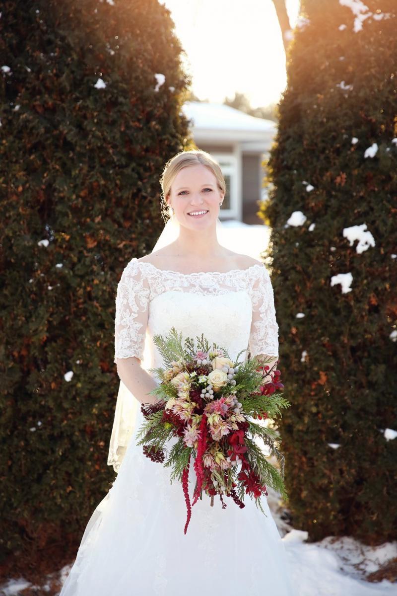 ashlee   michael  glittery january wedding