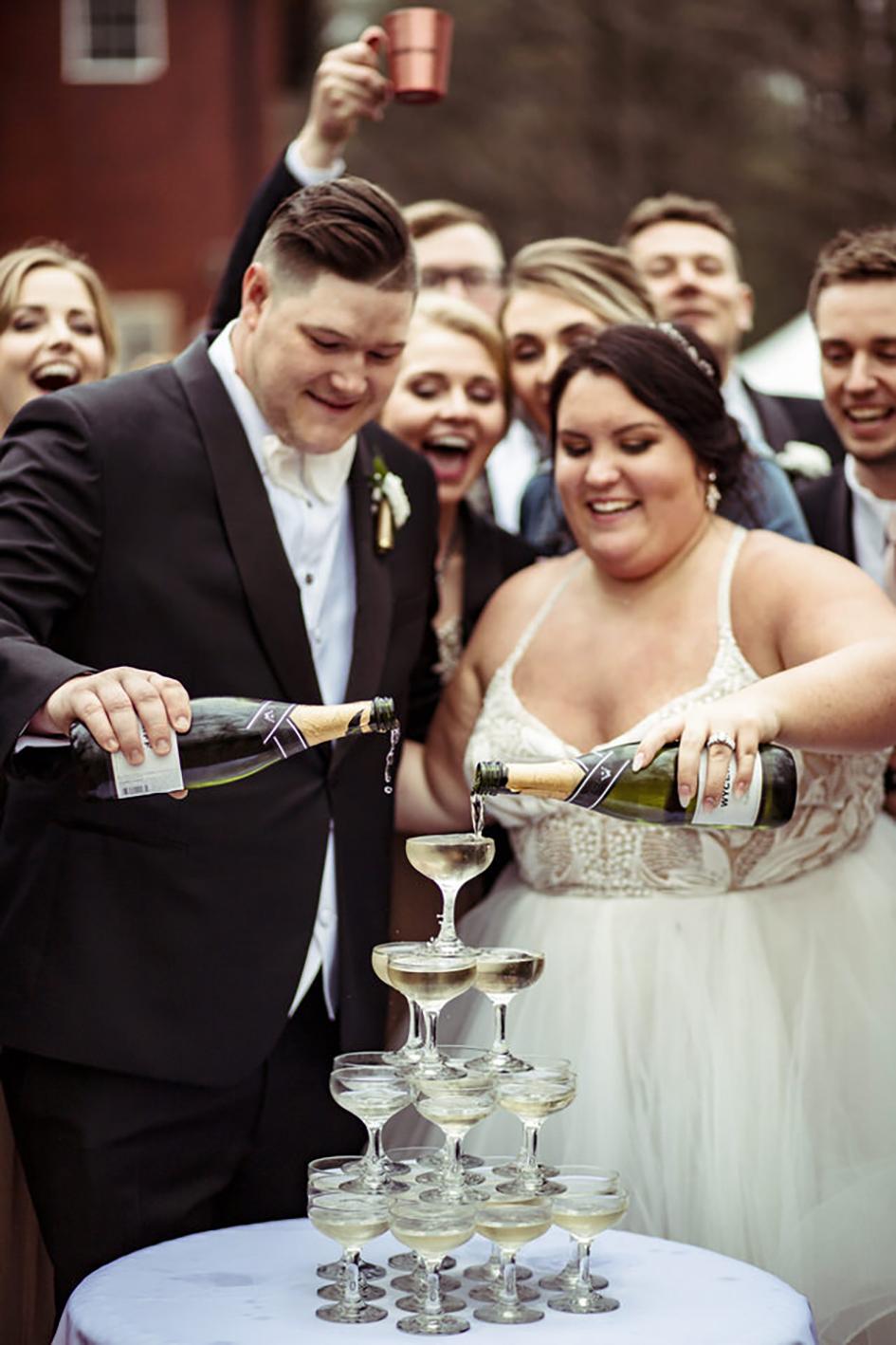 Rustic & Chic Wedding at Swan Barn Door   Wisconsin Bride