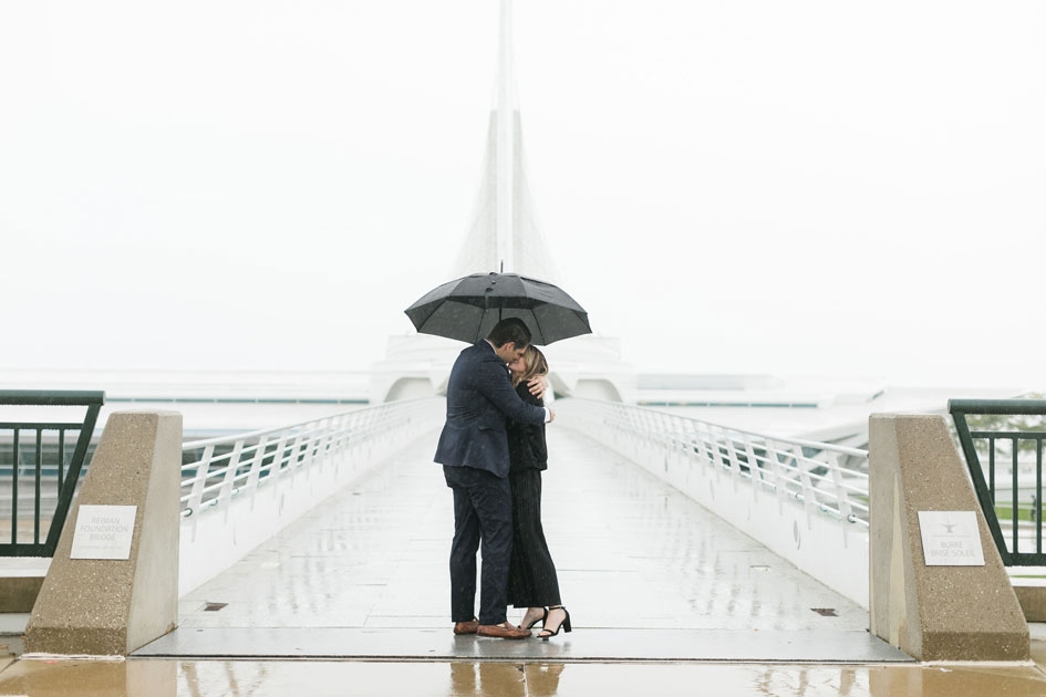 "Jack and Emme kiss at the Reiman Footbridge after she says ""yes!"""