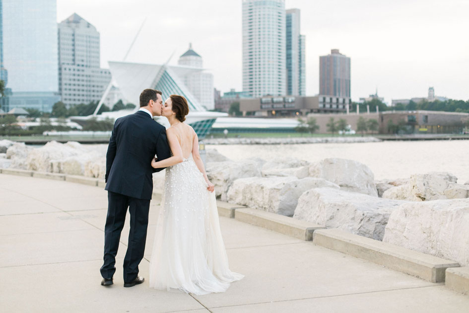 This NYC couple had a hometown wedding in Milwaukee, complete with signature touches