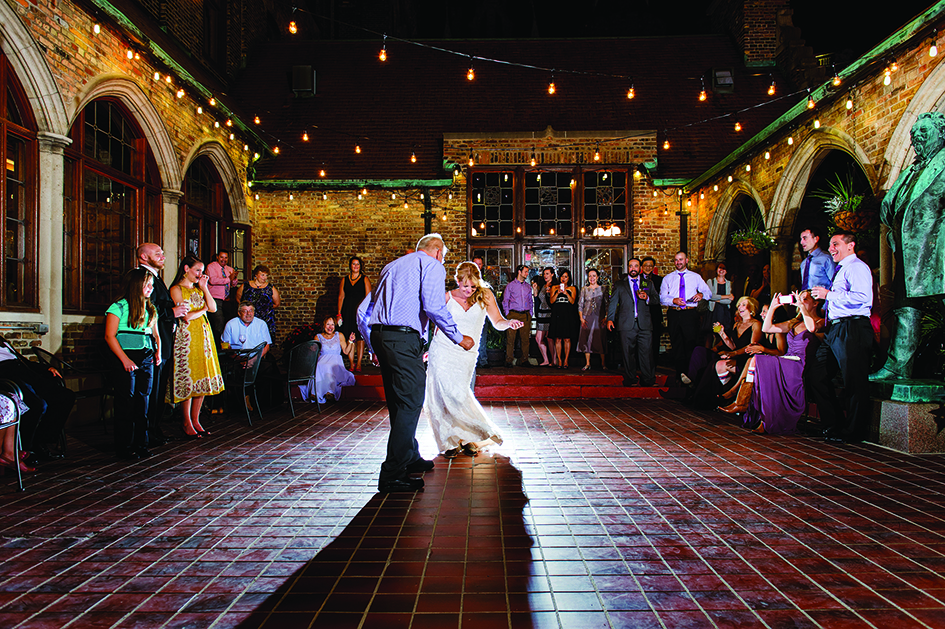A father-daughter dance at the Best Place at the Historic Pabst Brewery in Milwaukee.