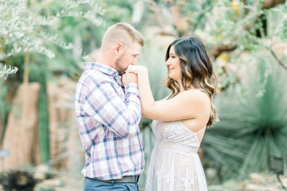 Sweet and Spiky Engagement Shoot at The Milwaukee Domes | Wisconsin Bride