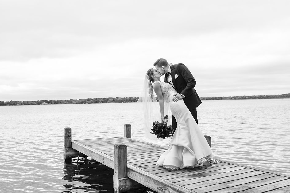 The Paper Elephant captures the couple on the dock at Seven Seas