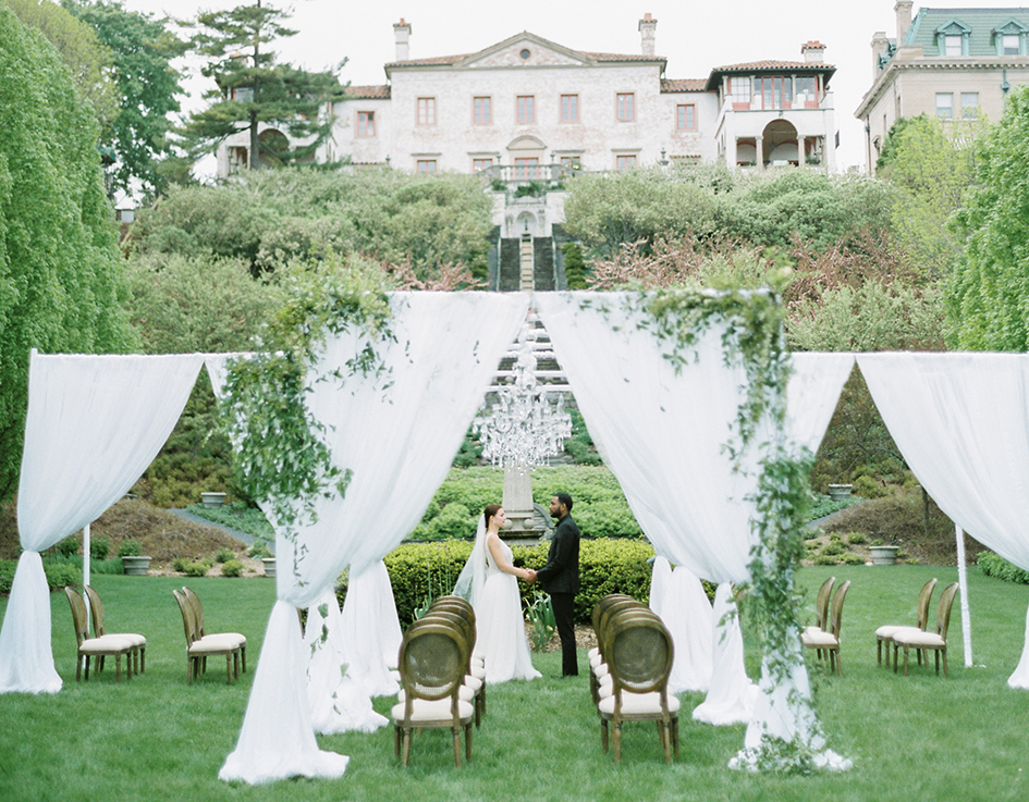 Villa Terrace European-inspired wedding
