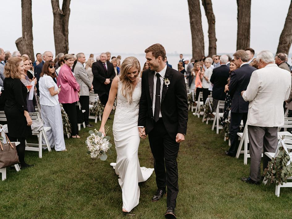 Morgan and Jake wed at Bishops Bay Country Club