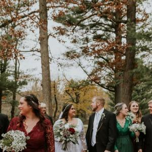 White and Crimson Wedding in the Woods   Wisconsin Bride