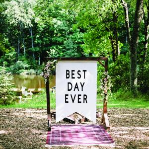 The Best Day Ever sign at YMCA Camp Sturtevant
