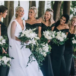 Elegant Affair with a Black-and-white Motif