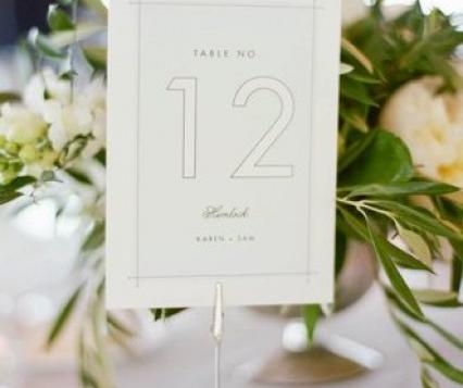 Our Favorite Wedding Table Number Ideas | Wisconsin Bride