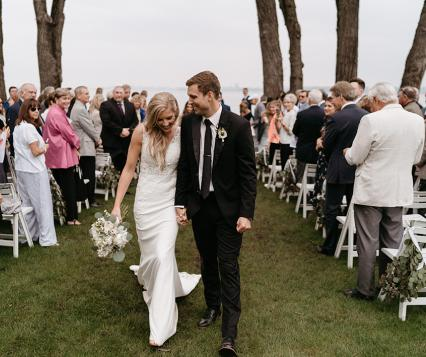 Morgan and Jake wed at Bishops Bay Country Club