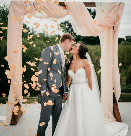 Peachy Wedding at the Chapel on the Green at Chula Vista | Wisconsin Bride