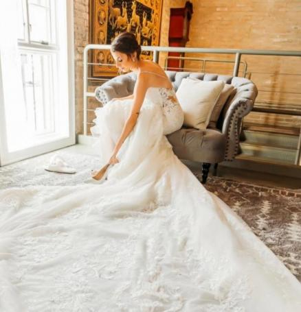 Featuring Blue Fancy Events, Milwaukee Flower Co, Eve of Milady, Bridals by Lori, Hair by Alexis Jaye, THP Wedding, The Atrium, Lusia Studio Photography