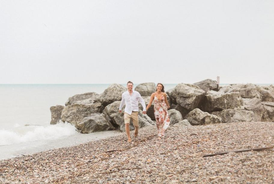 Casey and Tayelor: Styled Shoot-Turned Proposal at Klode Park Beach